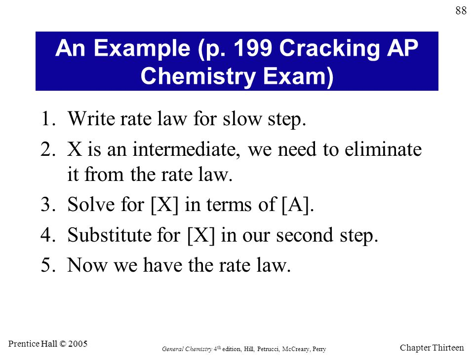 An Example (p. 199 Cracking AP Chemistry Exam)