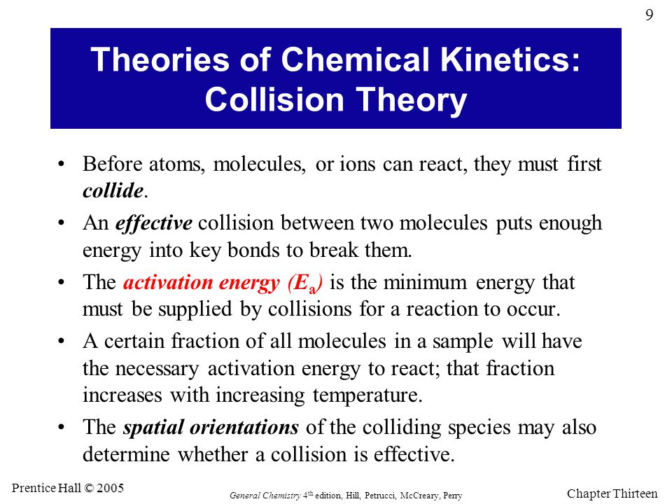 Theories of Chemical Kinetics: Collision Theory