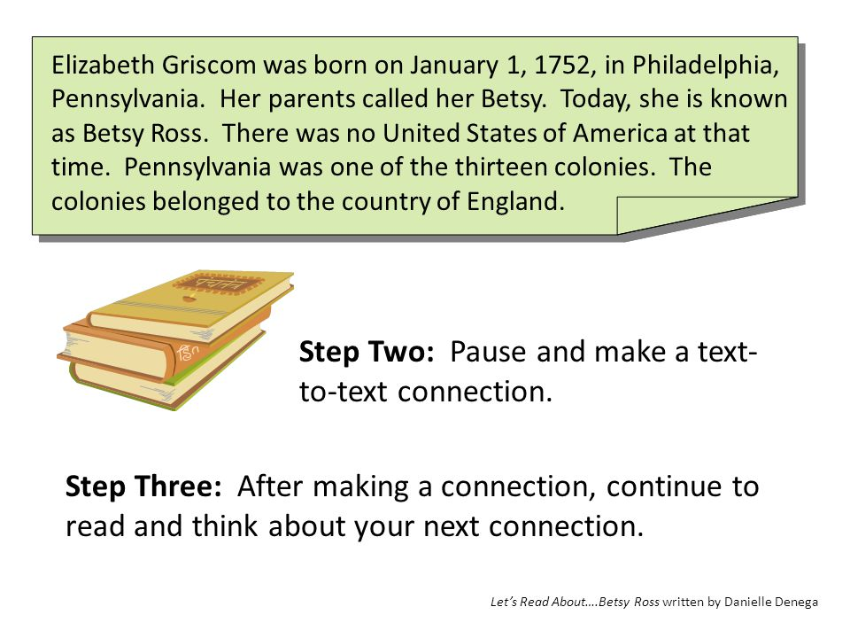 Step Two: Pause and make a text-to-text connection.