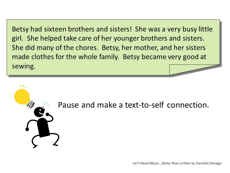 Pause and make a text-to-self connection.