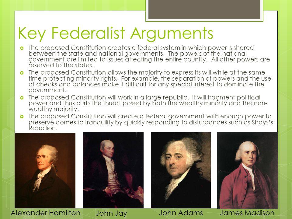 Key Federalist Arguments