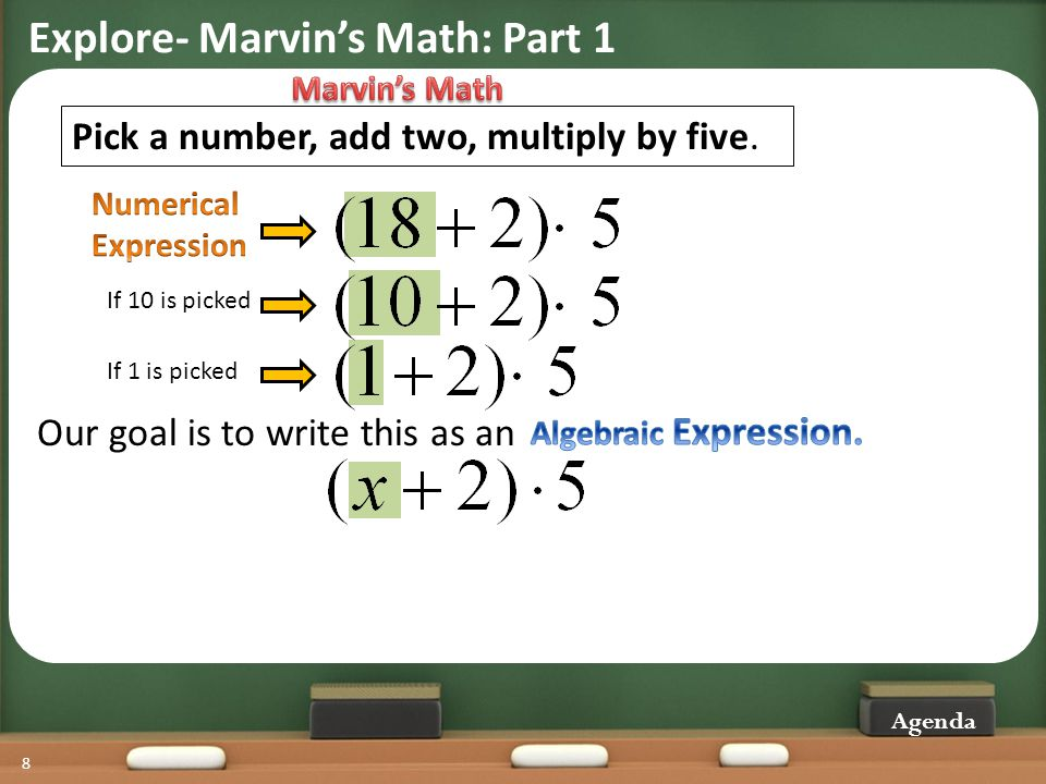 Explore- Marvin's Math: Part 1