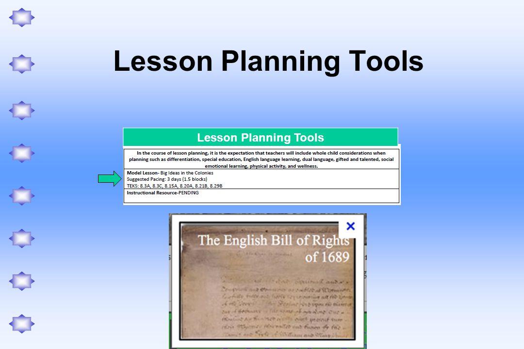 Lesson Planning Tools Lesson Planning Tools