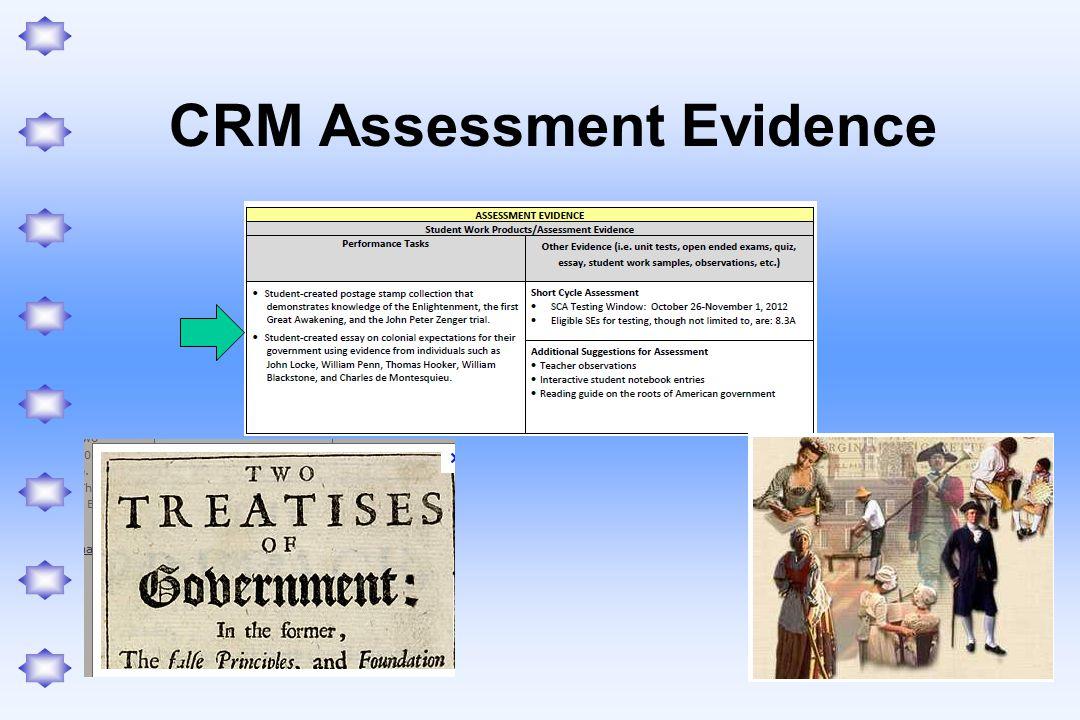 CRM Assessment Evidence