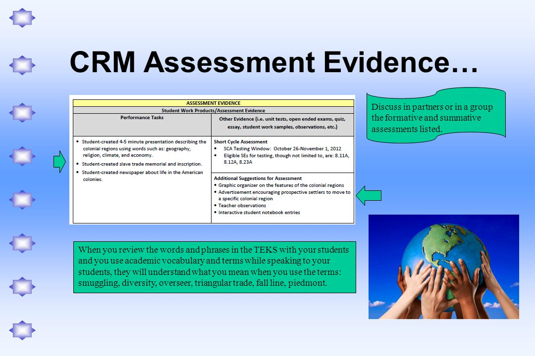 CRM Assessment Evidence…