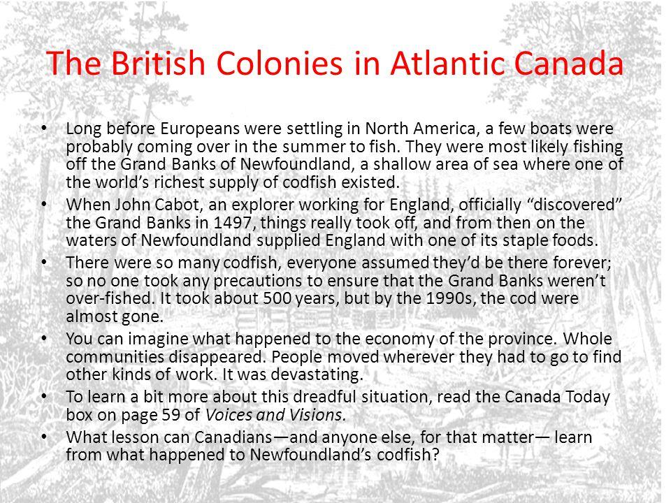 The British Colonies in Atlantic Canada