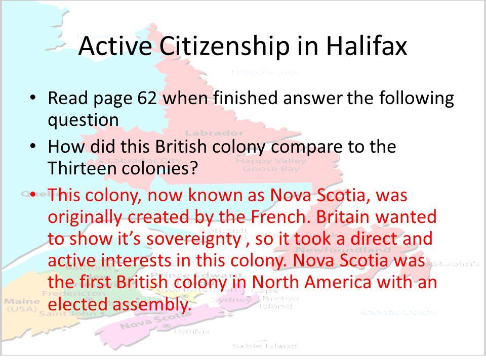 Active Citizenship in Halifax