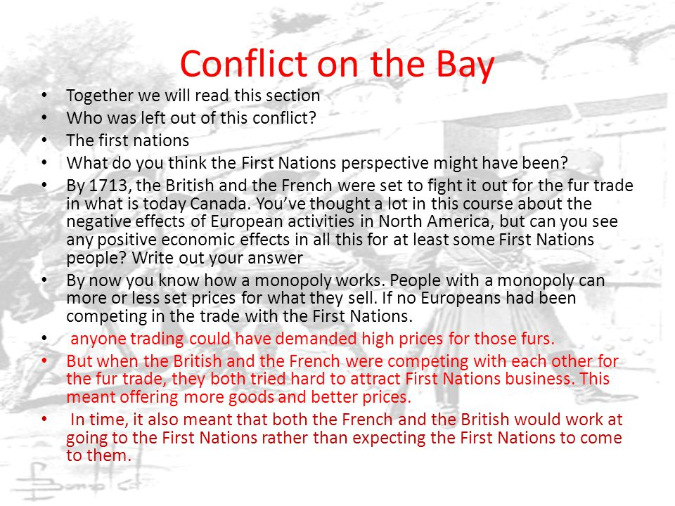 Conflict on the Bay Together we will read this section