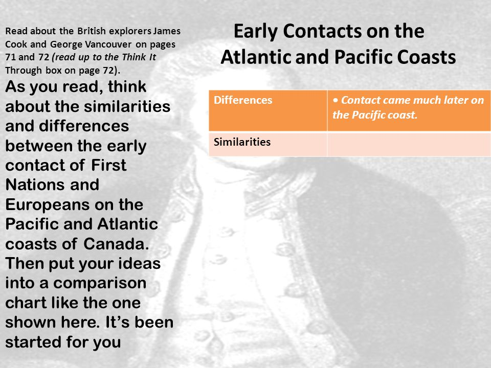 Early Contacts on the Atlantic and Pacific Coasts