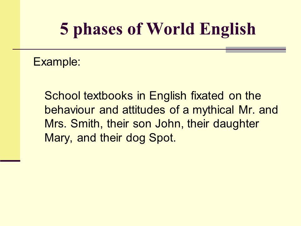 5 phases of World English