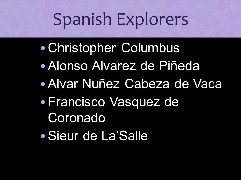 Spanish Explorers Christopher Columbus Alonso Alvarez de Piñeda