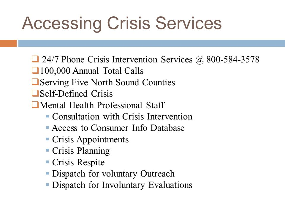 Accessing Crisis Services