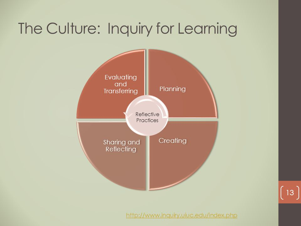 The Culture: Inquiry for Learning
