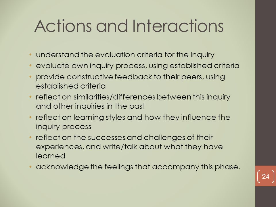 Actions and Interactions