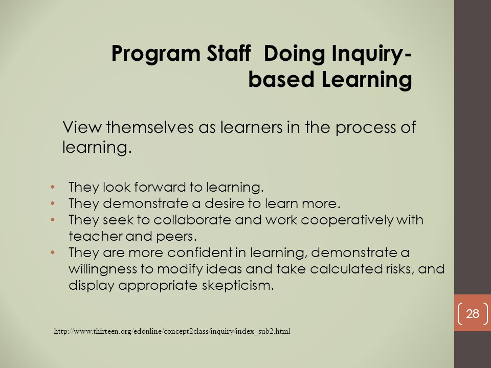 Program Staff Doing Inquiry-based Learning