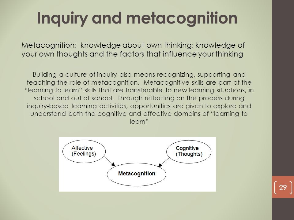 Inquiry and metacognition