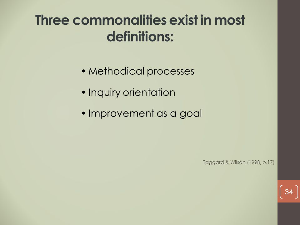 Three commonalities exist in most definitions: