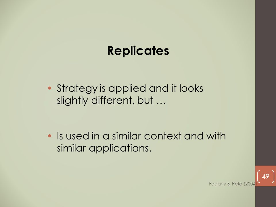Replicates Strategy is applied and it looks slightly different, but …