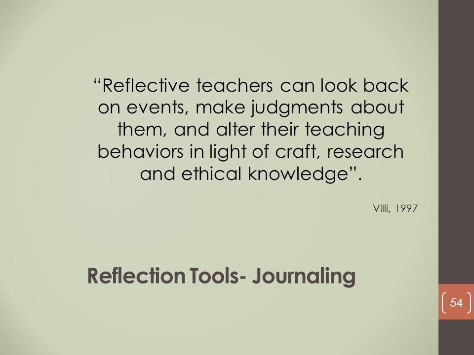Reflection Tools- Journaling
