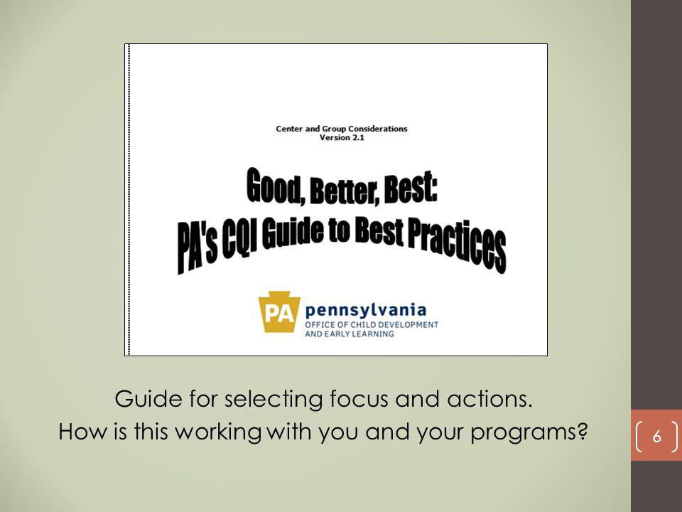 Guide for selecting focus and actions.