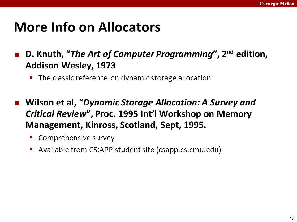 More Info on Allocators