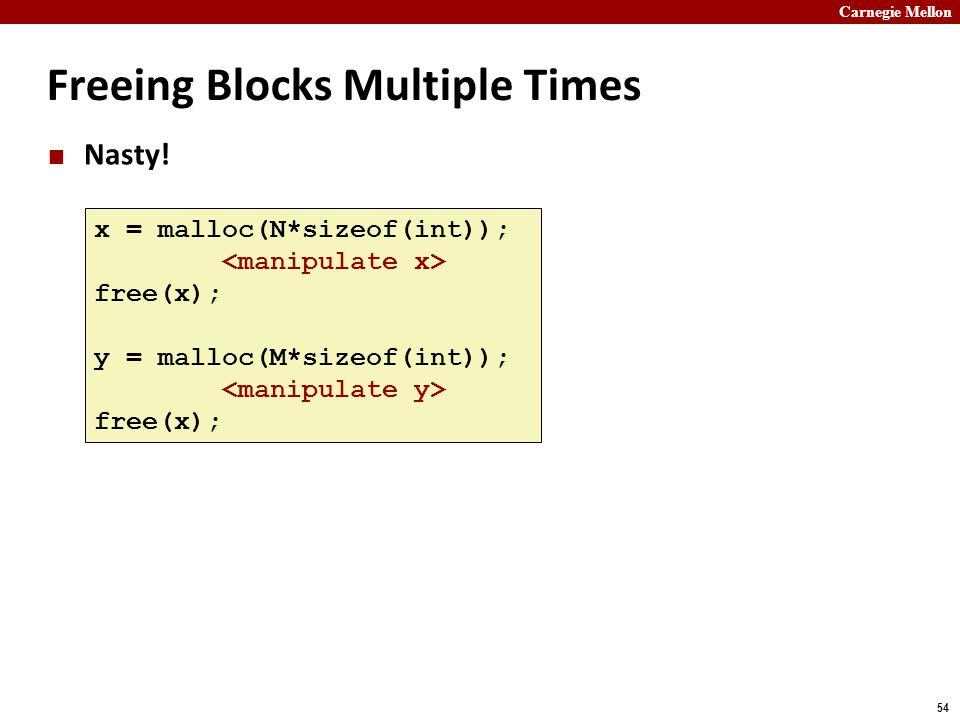 Freeing Blocks Multiple Times