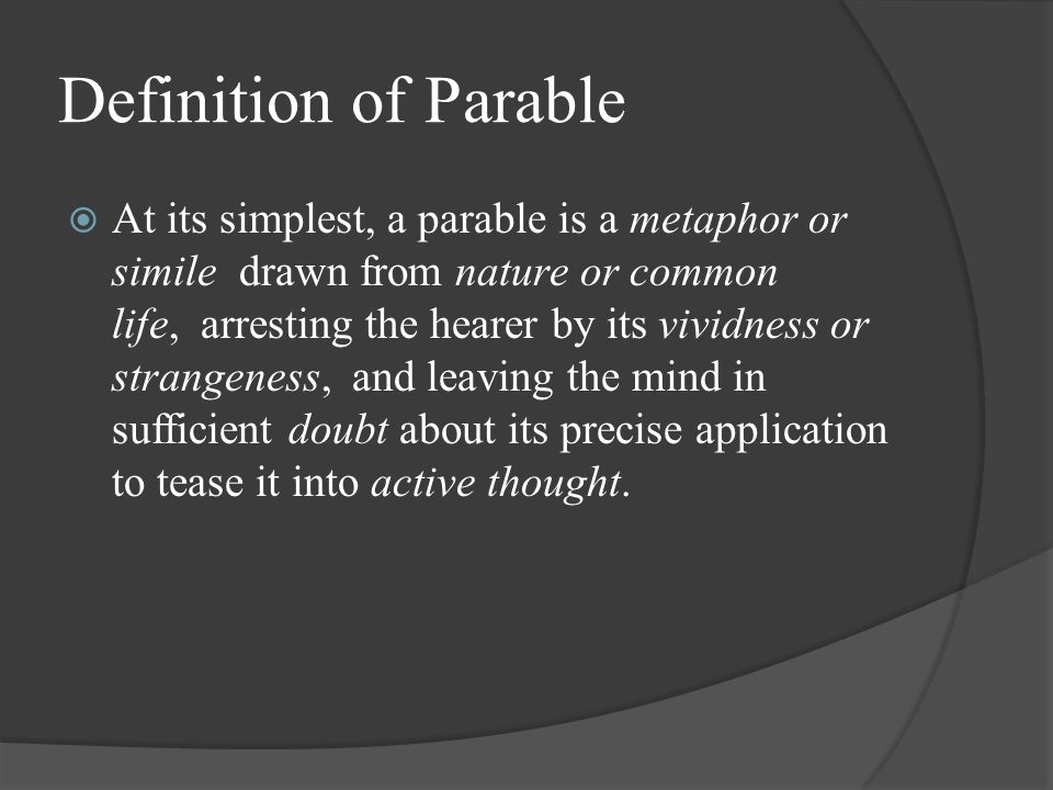 Definition of Parable