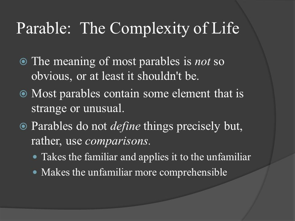 Parable: The Complexity of Life
