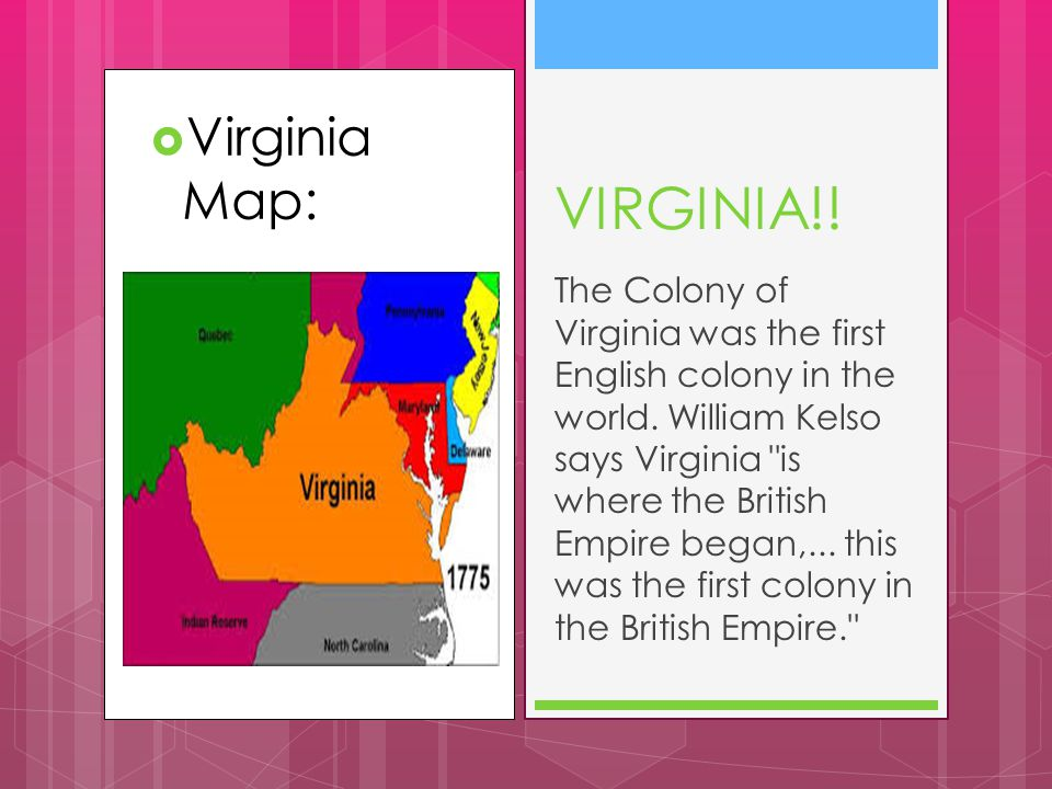 VIRGINIA!! Virginia Map: