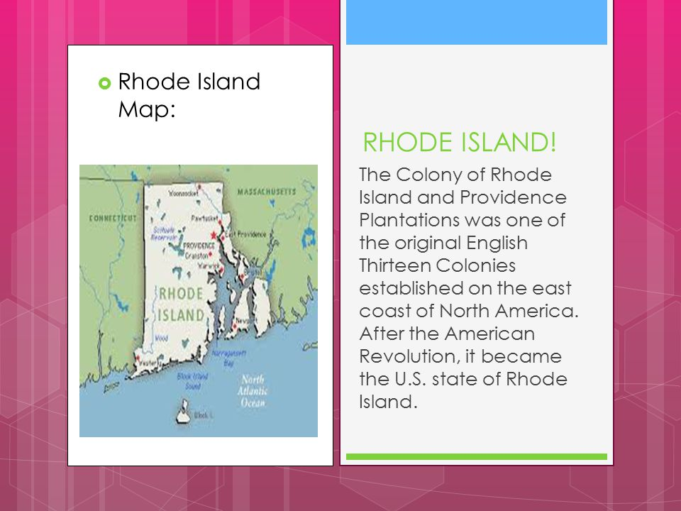 RHODE ISLAND! Rhode Island Map:
