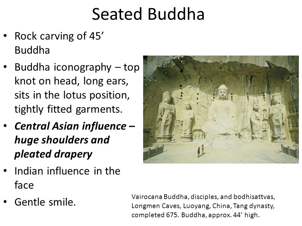 Seated Buddha Rock carving of 45' Buddha