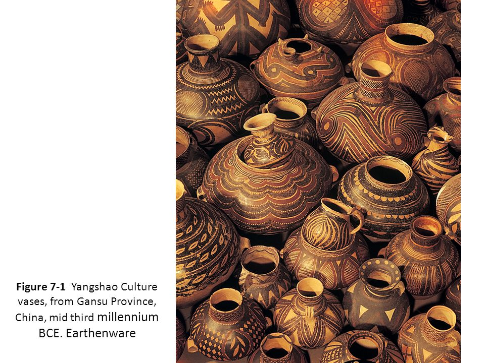 Figure 7-1 Yangshao Culture vases, from Gansu Province, China, mid third millennium BCE. Earthenware