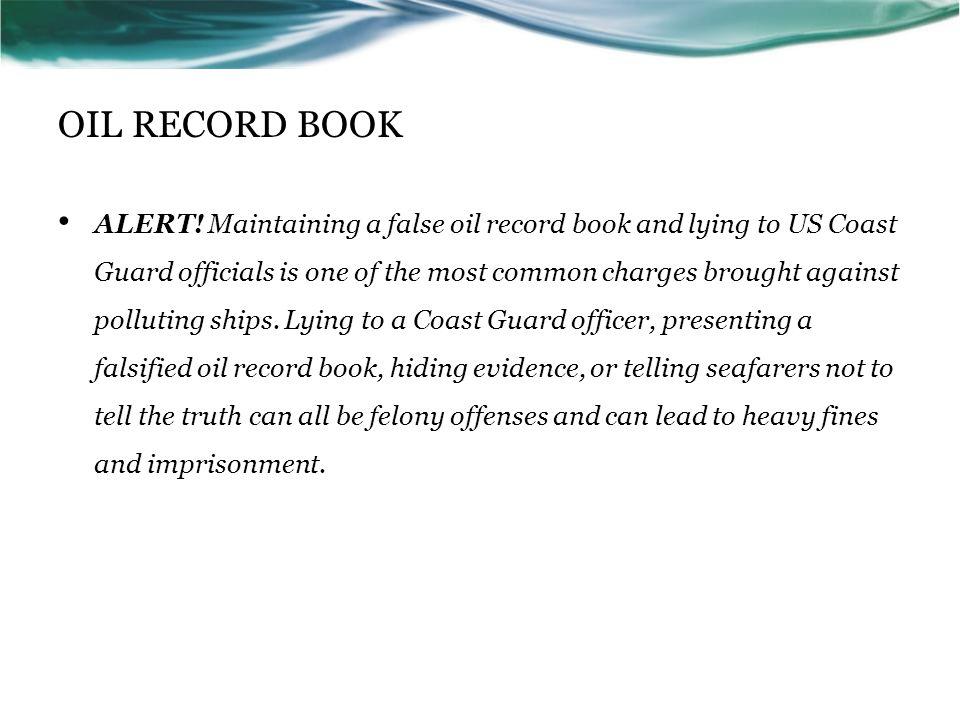 OIL RECORD BOOK