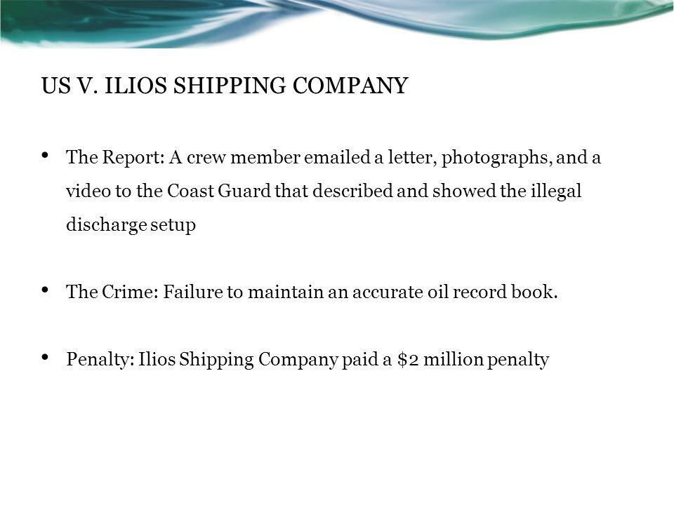 US V. ILIOS SHIPPING COMPANY