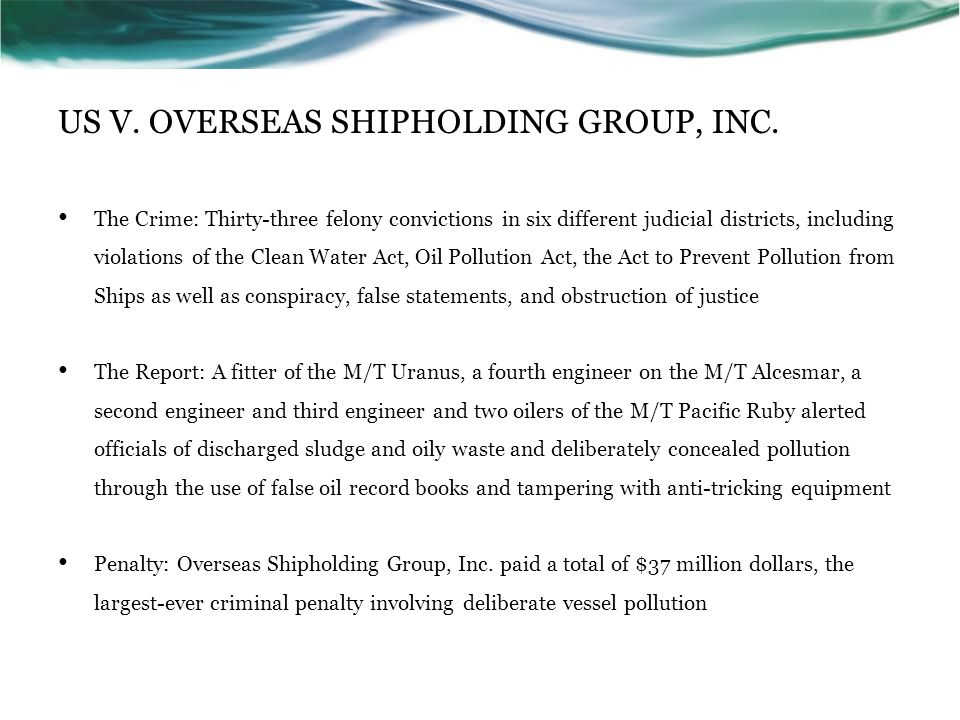 US V. OVERSEAS SHIPHOLDING GROUP, INC.