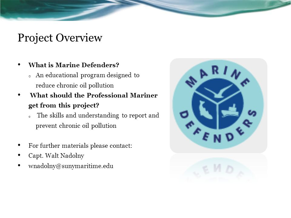 Project Overview What is Marine Defenders