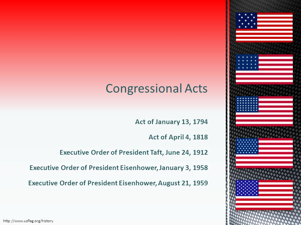 Congressional Acts Act of January 13, 1794 Act of April 4, 1818