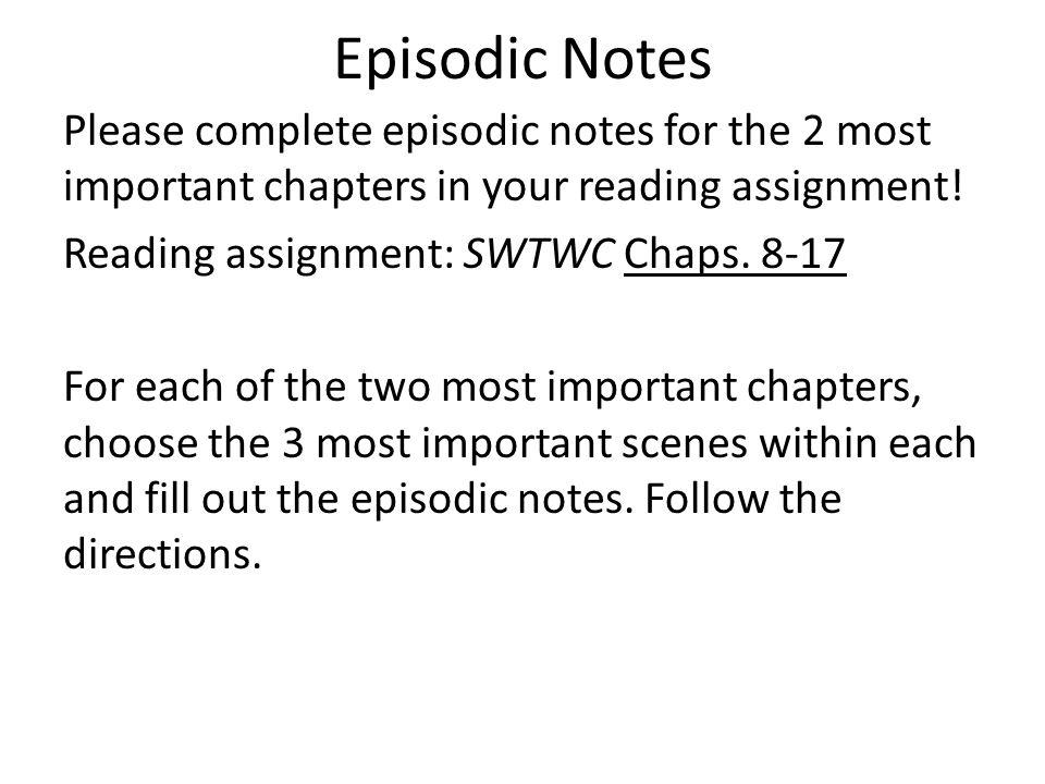 Episodic Notes