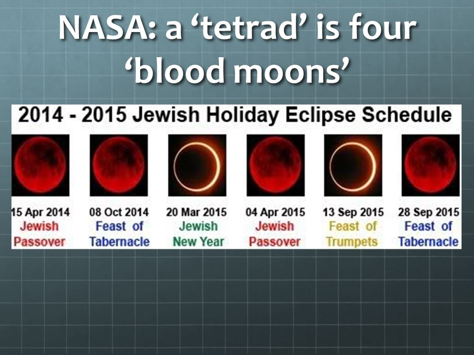 NASA: a 'tetrad' is four 'blood moons'