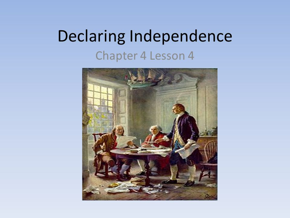 Declaring Independence