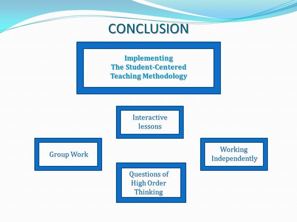 The Student-Centered Teaching Methodology