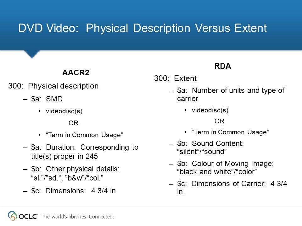 DVD Video: Physical Description Versus Extent