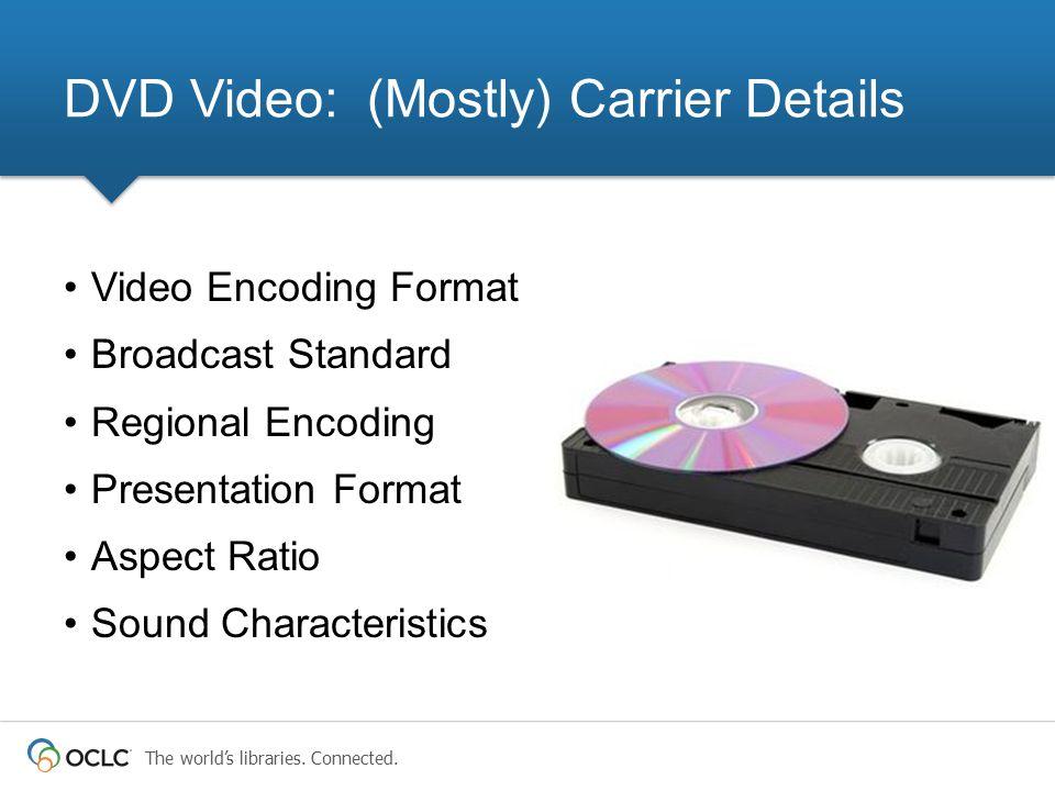 DVD Video: (Mostly) Carrier Details