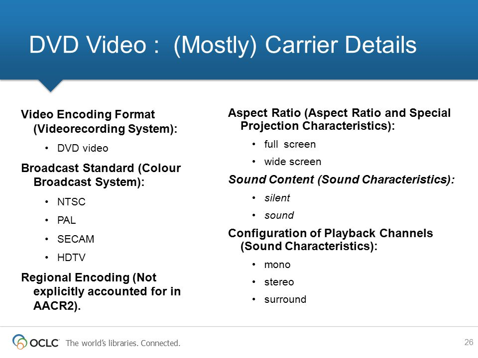 DVD Video : (Mostly) Carrier Details