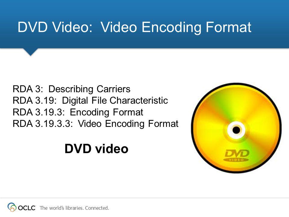 DVD Video: Video Encoding Format