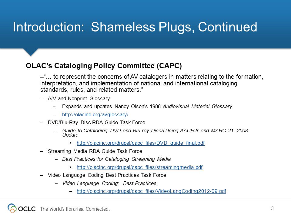 Introduction: Shameless Plugs, Continued