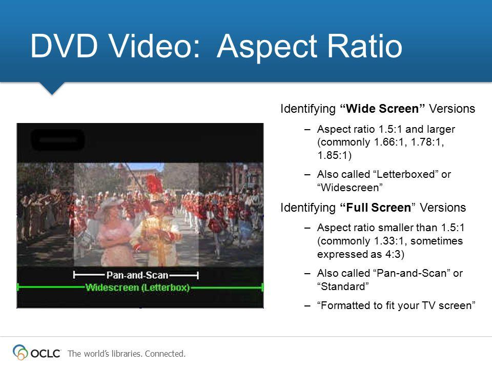 DVD Video: Aspect Ratio