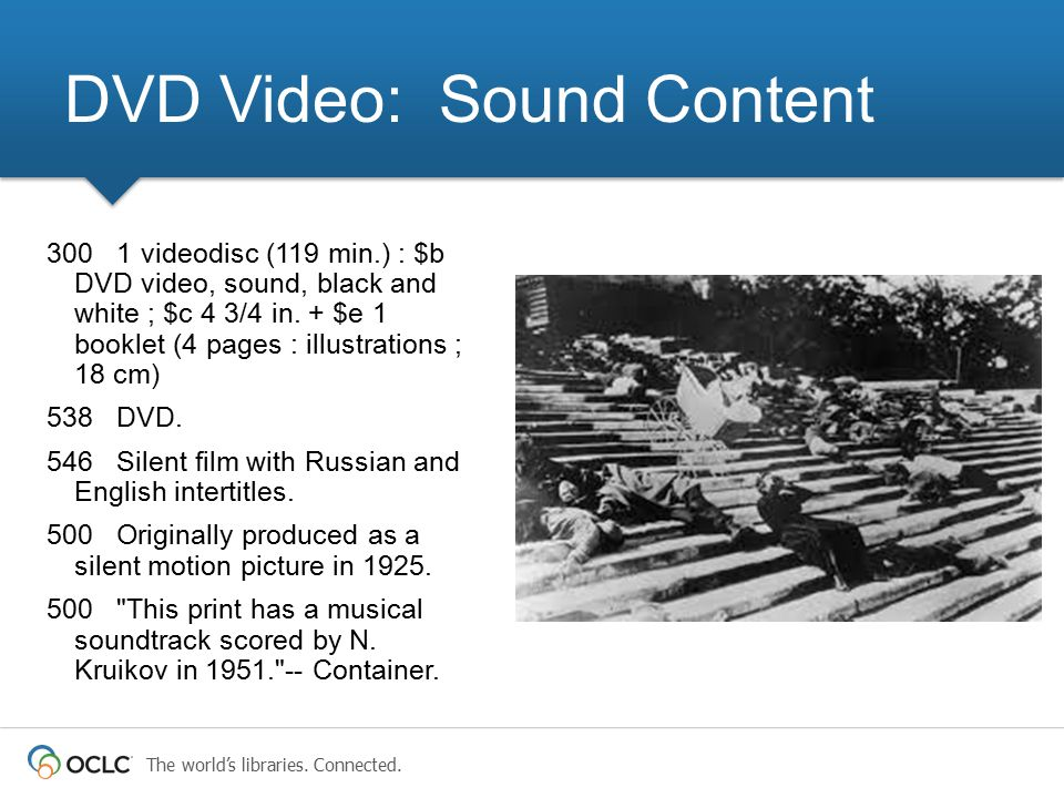 DVD Video: Sound Content