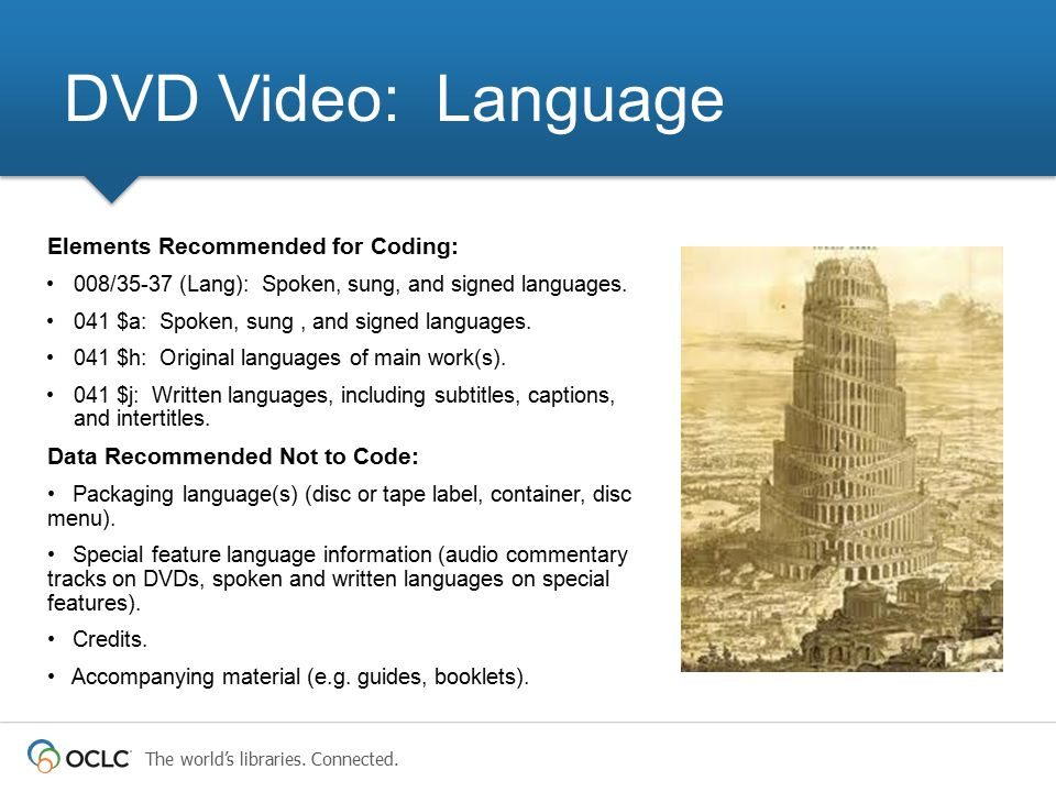 DVD Video: Language Elements Recommended for Coding: