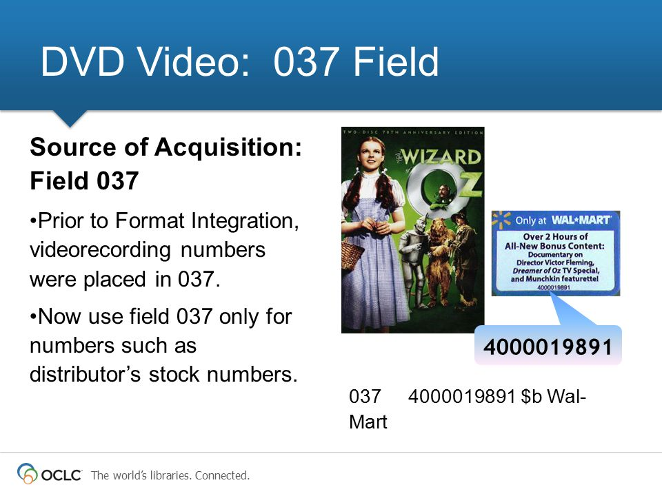 DVD Video: 037 Field Source of Acquisition: Field 037